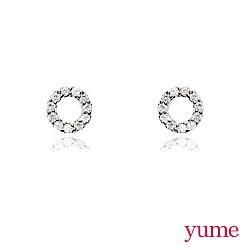 YUME - K金小圈滿鑽耳環