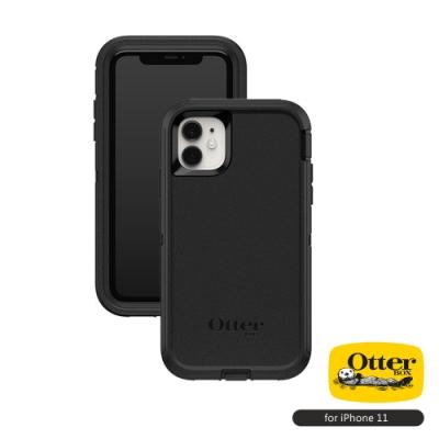 OtterBox iPhone 11 (6.1吋)專用 防刮防塵防摔手機保護殼-Defender防禦者系列■黑