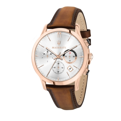MASERATI TIME 瑪莎拉蒂 RICORDO 三眼日期計時腕錶 R8871633002