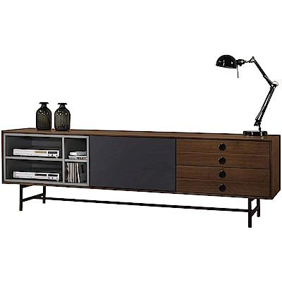 文創集 威廉絲時尚5.7尺木紋電視櫃/視聽櫃-170x40x52.5cm免組