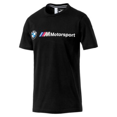 PUMA-男性BMW系列MMS Logo短袖T恤-黑色-歐規