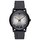 Emporio Armani 運動休閒時尚橡膠手錶(AR11176)-漸層黑/43mm