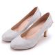 MAGY 簡約奢華風 閃爍鑽石光澤夢幻高跟鞋-銀色 product thumbnail 1