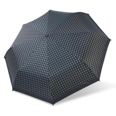 【雙龍牌】降溫涼感小無敵三折傘雨傘黑膠傘B6313-閃耀灰紋