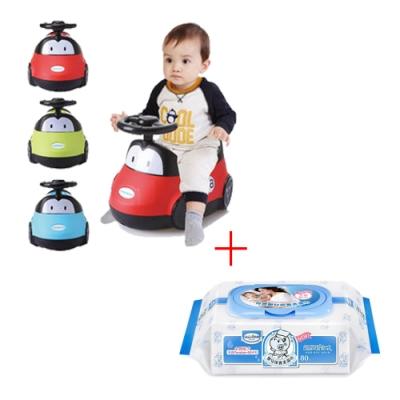 baby hood 小汽車座便器-紅/綠/藍+貝恩 NEW嬰兒保養柔濕巾80抽1入