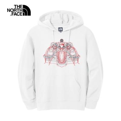【新年限定】The North Face北面男女款白色舒適連帽上衣|4UC6FN4