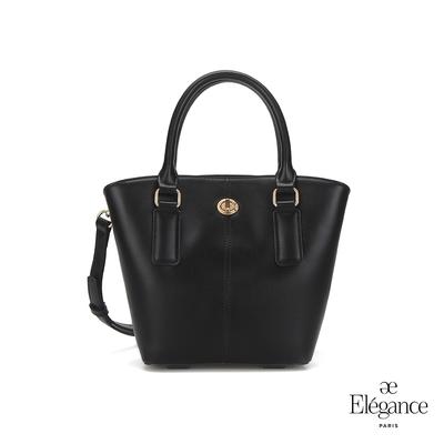 【Elegance】MONA 轉鎖手提兩用包-黑色