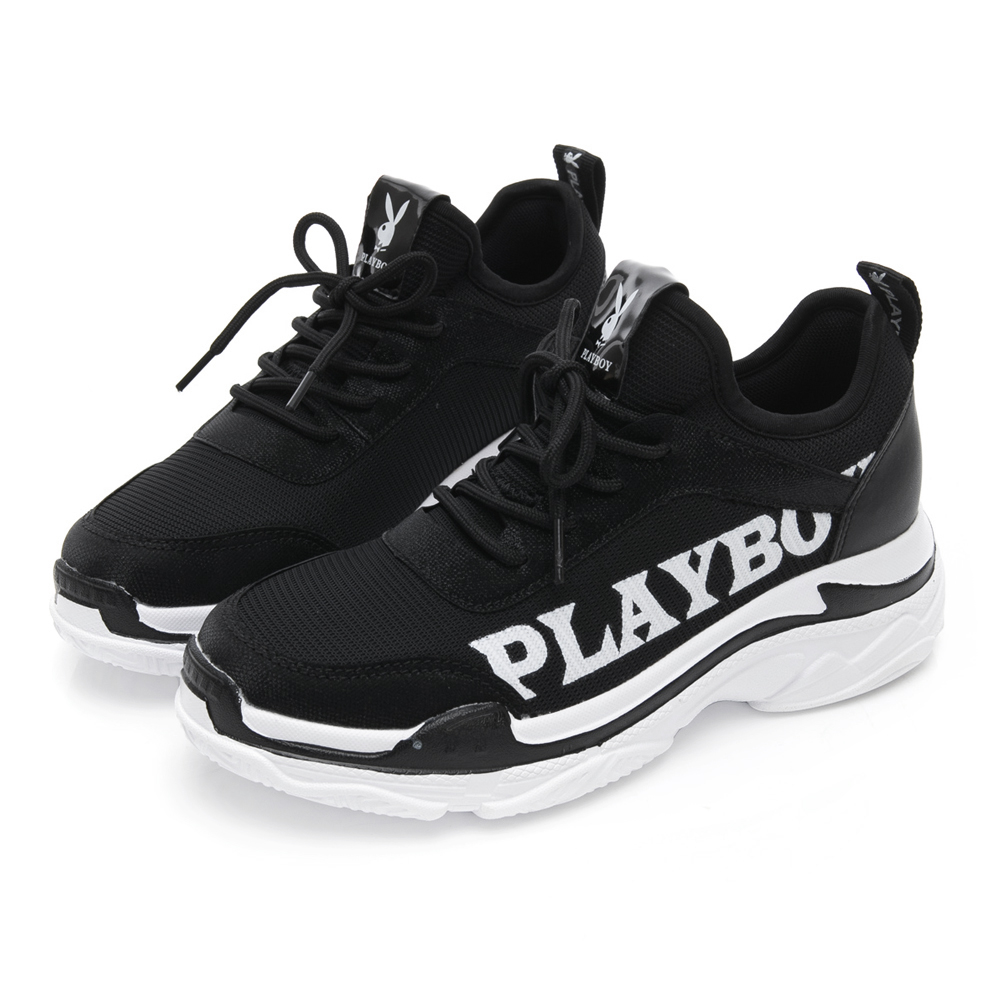 PLAYBOY SPIRIT潮流兔兔老爹鞋-黑-Y5277CC