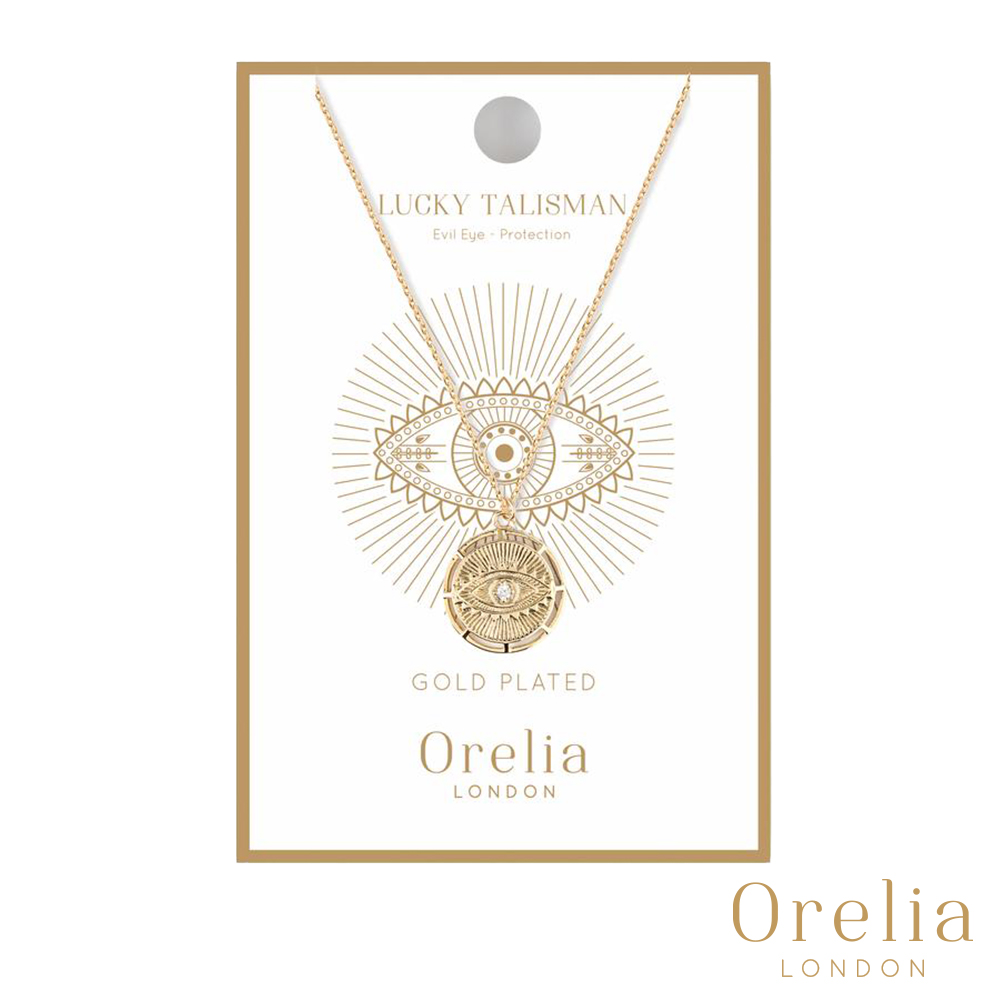 Orelia 英國倫敦 幸運守護獨眼金幣項鍊