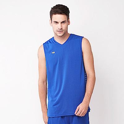 【KENBOO】男款吸排籃球背心-中藍˙