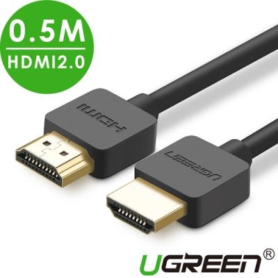 綠聯 HDMI 2.0傳輸線 Portable版 0.5M