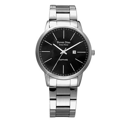 Roven Dino羅梵迪諾 伴點時尚風采日期女錶-銀X黑(RD6064L-278B)