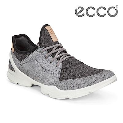 ECCO BIOM STREET 骨瓷皮革 裸足概念輕量運動鞋 女-深灰
