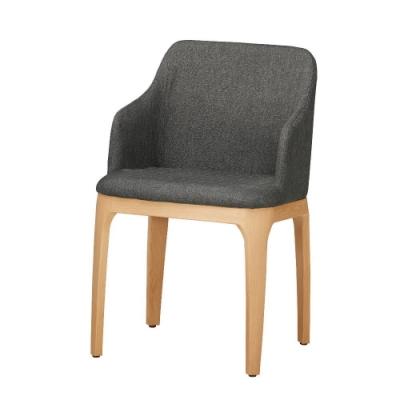 MUNA 蕾妮灰色布餐椅(五金腳)(4入) 47.5X56X78cm