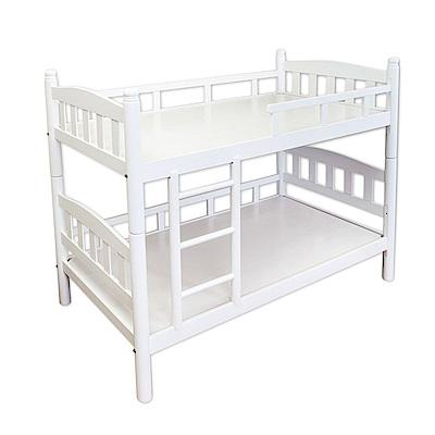 Bernice-莎拉白色3.5尺實木雙層床架