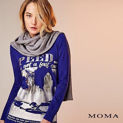 限時商品 | MOMA 金屬光V領針織上衣