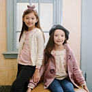 PIPPY 立體鋪棉領花卉刺繡針織外套  粉色