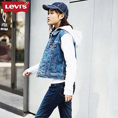 Levis 牛仔外套 女裝 連帽拼接