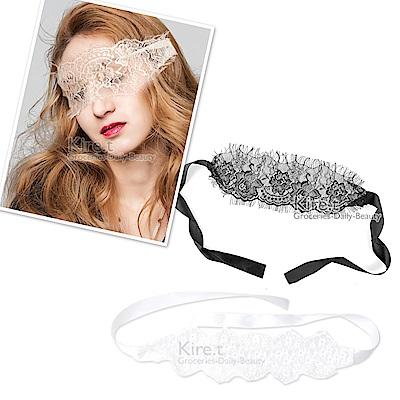 神秘嘉賓性感面具面罩 鏤空半透 浪漫蕾絲毛絨眼罩 後綁帶式 kiret