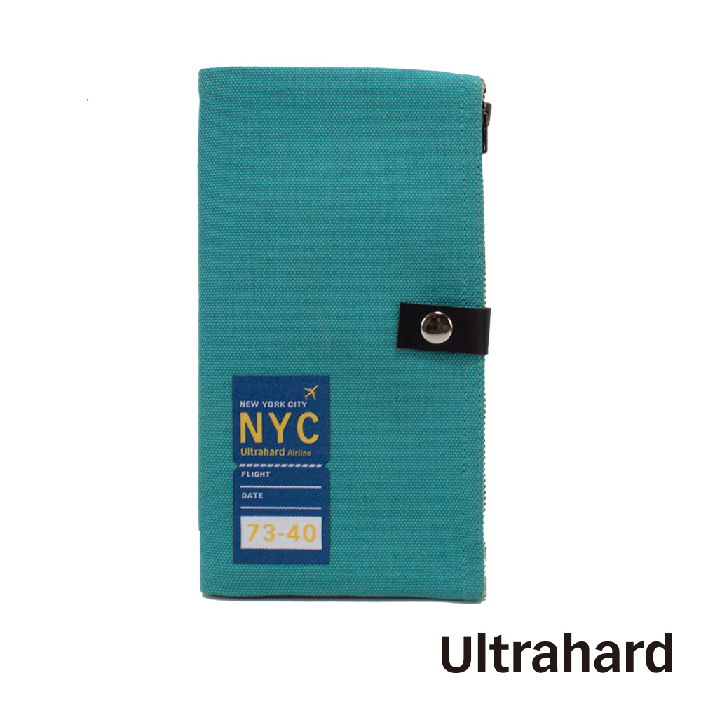 Ultrahard Traveler系列雙拉鍊筆袋-紐約NYC(藍)