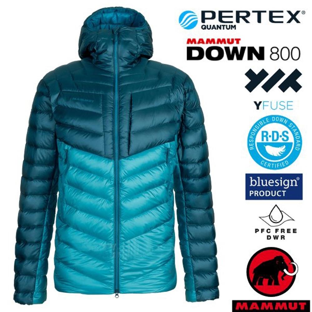 長毛象 男新款 Broad Peak IN 輕量保暖防風防潑連帽羽絨外套.夾克_藍寶石/水鴨藍