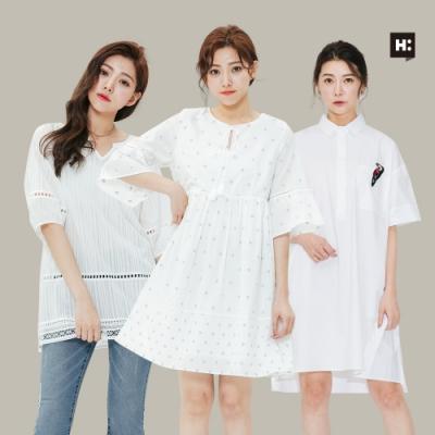 [時時樂]H:CONNECT 韓國品牌 女裝-精選韓系質感上衣-三款