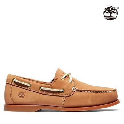 Timberland 男款淺咖啡Cedar Bay磨砂革帆船鞋|A2HEM