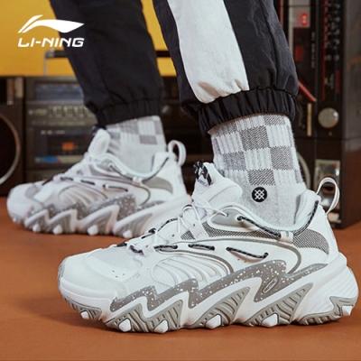 LI-NING 李寧 X-Claw貓爪復古 男 時尚潮流休閒鞋 標白/標黑(AGLQ013-8)