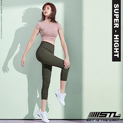 STL Wonder legging 7 韓 女 超高腰運動拉提褲 奇蹟深卡其