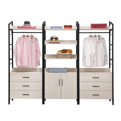 H&D 伊凡卡8.1尺鐵架衣櫃