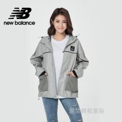 [New Balance]連帽平織外套_女性_灰綠色_WJ11590SP4