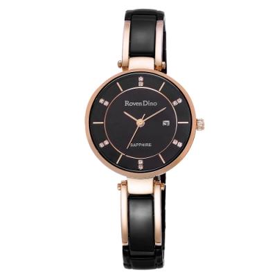 Roven Dino羅梵迪諾  閃耀歐風魅力腕錶-黑(RD778BRG-358)/30mm