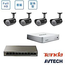 AVTECH FULL HD全室外監控套裝方案