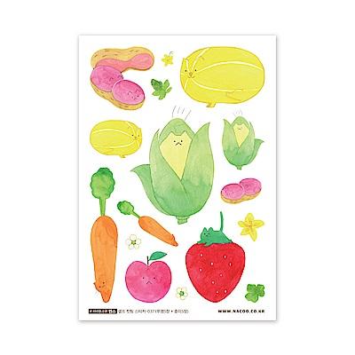 ByNACOO 自剪貼紙包(10入)-037蔬果貓