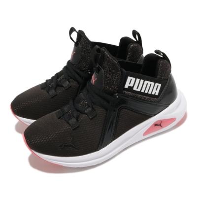 Puma 慢跑鞋 Enzo 2 Sparkle 襪套式 女鞋 路跑 緩震 輕量 透氣 球鞋穿搭 黑 白 粉 19457301