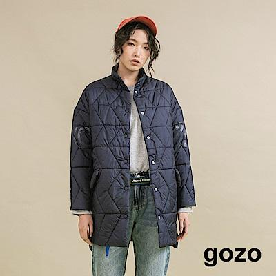 gozo 撞色印字輕盈感鋪棉外套(二色)