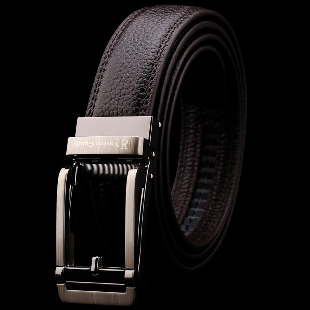 Vaston Gaudy 威仕登.高迪-頭層牛皮 復古銀針扣型 自動扣皮帶