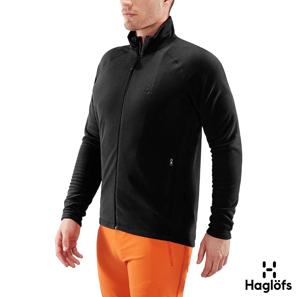 新品↘Haglofs 男 Astro 保暖 透氣 刷毛外套 黑色