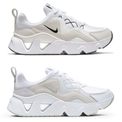 Nike RYZ 365 經典白 蘋果綠 鏤空鋸齒老爹鞋
