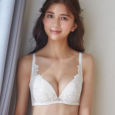 蕾黛絲-山櫻高脅邊真水 D罩杯內衣 少女純白