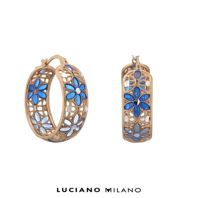 LUCIANO MILANO 聖芎之頂純銀耳環(環)