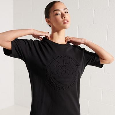 SUPERDRY 女裝 短袖T恤 EXPEDITION EMBOSS 黑