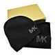 MICHAEL KORS 鉚釘LOGO圍巾/毛線帽禮盒組-黑色 product thumbnail 1