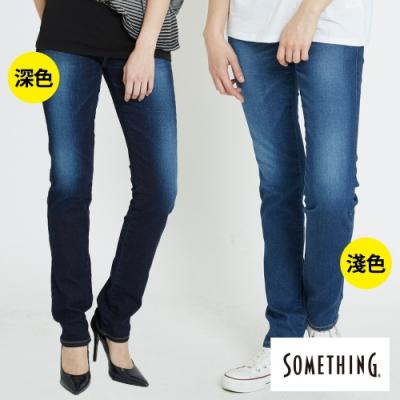 [時時樂限定] SOMETHING 女款提臀褲V-HIP釘珠提臀直筒褲(兩色)