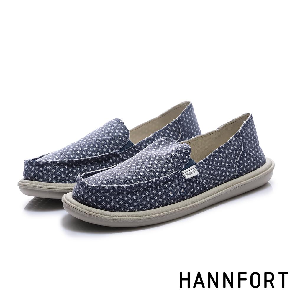 HANNFORT COZY 復古樣文青懶人鞋-女-星星藍
