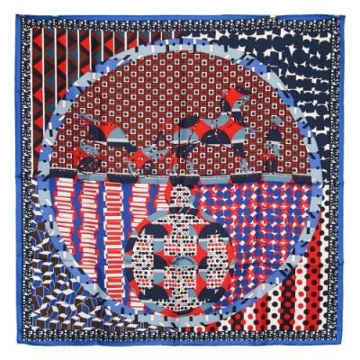 Hermes Ex-Libris en Cravates scarf 真絲方巾(紅黑)
