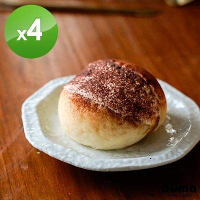 奧瑪烘焙 羅馬生乳包提拉米蘇X4個(120g±4.5%/個)(1個/盒)