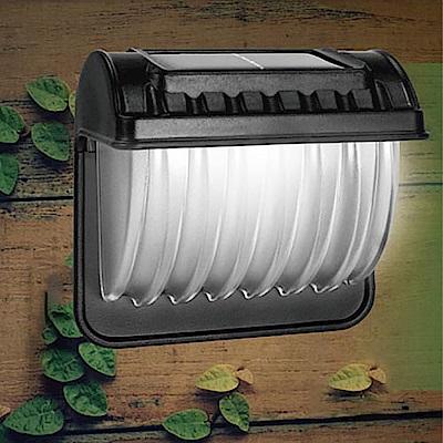 【KINYO】壁掛太陽能LED庭園燈-白光(GL-6021)