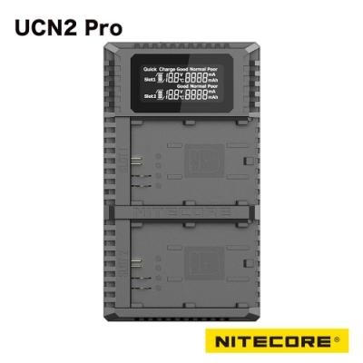 Nitecore UCN2 Pro 液晶顯示充電器 CANON 相機 LP-E6N 電池 快速充電模式 LCD螢幕 防反接/短路功能 電池激活功能 散熱系統 隱藏電線收納