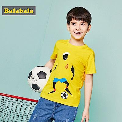 Balabala巴拉巴拉-運動風潮印花造型短袖T恤-男(3色)